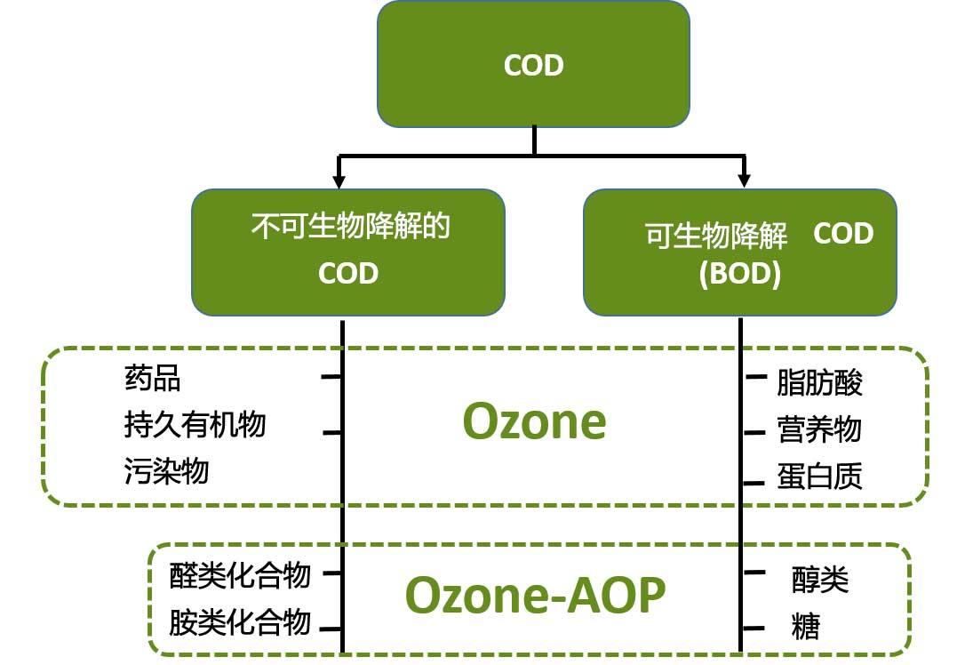 COD和BOD工业用水臭氧处理