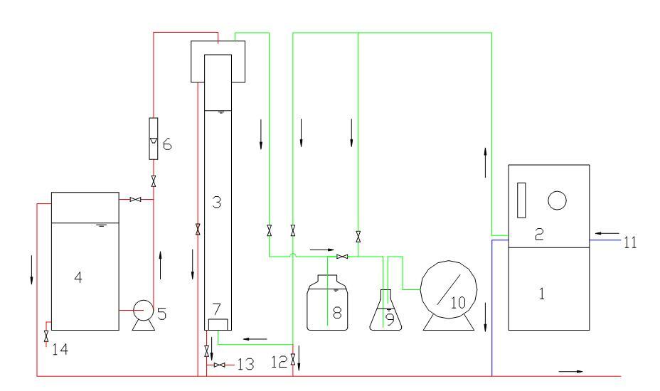 臭氧脱色实验流程图